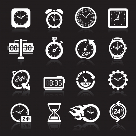 sand timer: Clocks icons.