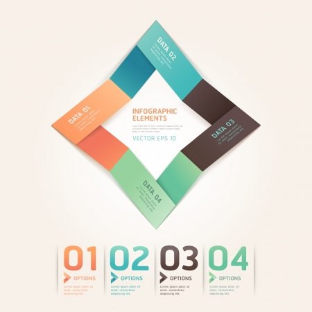 Modern arrow origami style number options banner  Vector illustration  can be used for workflow layout, diagram, web design, infographics Stock Vector - 17209782