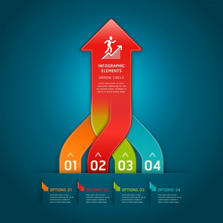 Colorful modern arrow circle number options banner  Vector illustration  can be used for workflow layout, diagram, web design, infographics  Vector