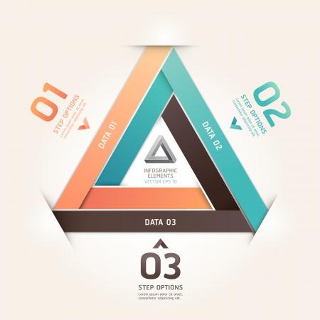 triangle button: Moderno estilo origami tri�ngulo infinito n�mero de opciones ilustraci�n pancarta se puede utilizar para el dise�o de flujo de trabajo, diagrama, las opciones de paso, dise�o web, infograf�a Vectores