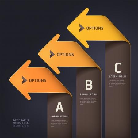 triangle button: Moderno estilo origami paso flecha hacia arriba ilustraci�n opciones bandera plantilla se puede utilizar para el dise�o de flujo de trabajo, diagrama, dise�o web, las opciones num�ricas, infograf�a Vectores