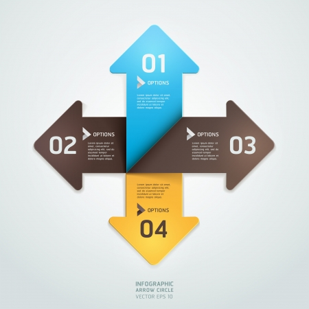 up arrow: Modern arrow origami style step up number options banner template   illustration  can be used for workflow layout, diagram, web design, infographics