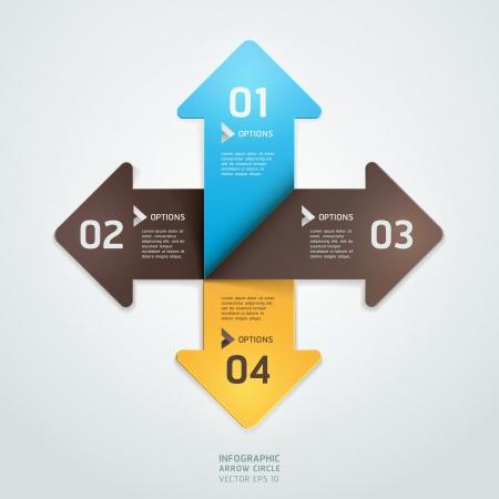 boton flecha: Moderno estilo origami paso flecha hasta la opci�n Numero bandera ilustraci�n plantilla se puede utilizar para el dise�o de flujo de trabajo, diagrama, dise�o web, infograf�a
