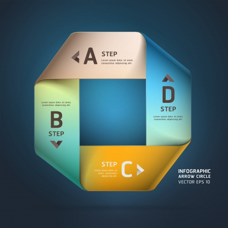 infinity icon: Modern infinite square origami style options banner   illustration  can be used for workflow layout, diagram, step options, web design, number options, infographics