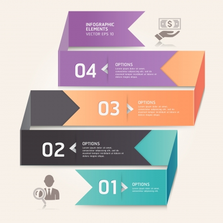 Modern arrow origami style number options banner   illustration  can be used for workflow layout, diagram, web design, infographics Stock Vector - 17665204