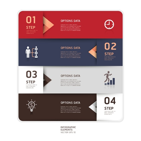 Modern arrow origami style step up options banner  Vector illustration  can be used for workflow layout, diagram, number options, web design, infographics Stock Vector - 17814290