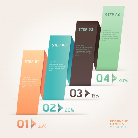 step up: Modern arrow origami style step up number options banner template. Vector illustration. can be used for workflow layout, diagram, web design, infographics.