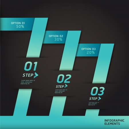 Modern infographics origami style step up options banner   Vector