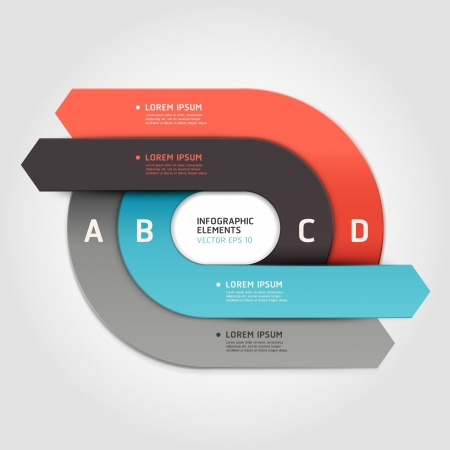 arrows circle: Modern arrow circle step up options banner  Vector illustration  can be used for workflow layout, diagram, number options, web design, infographics