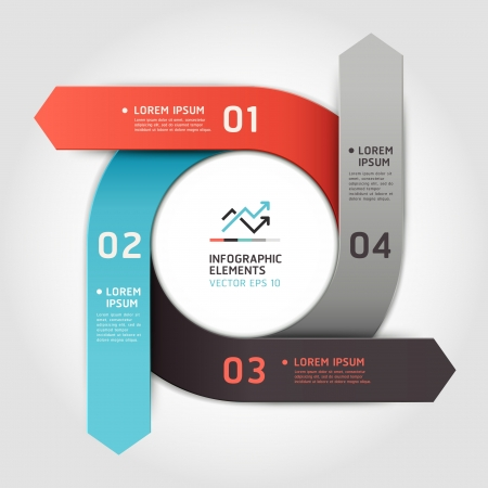 arrow circle: Modern arrow circle step up options banner  Vector illustration  can be used for workflow layout, diagram, number options, web design, infographics