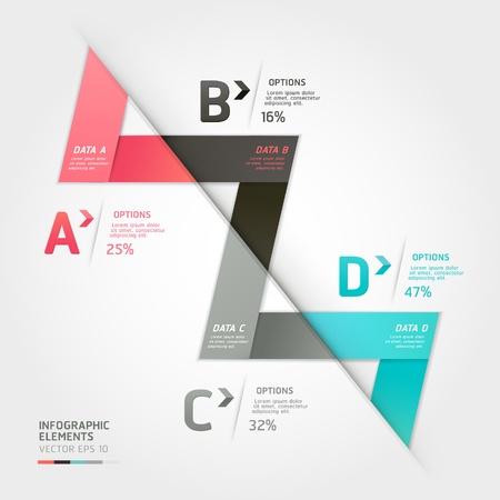 triangulo: Moderno estilo origami flecha opciones bandera ilustraci�n vectorial se puede utilizar para el dise�o de flujo de trabajo, diagrama, las opciones num�ricas, aumentar las opciones, dise�o web, infograf�a Vectores