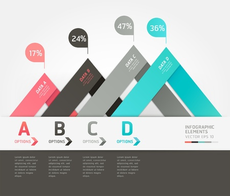 triangle button: Modern arrow origami style step up options banner  Vector illustration  can be used for workflow layout, diagram, number options, web design, infographics