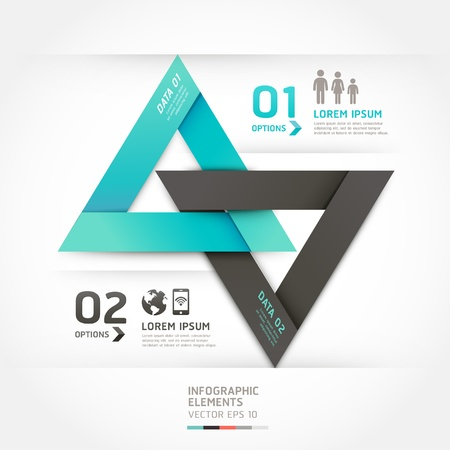Modern arrow origami style options banner. Vector illustration. can be used for workflow layout, diagram, number options, step up options, web design, infographics. Stock Vector - 18052533