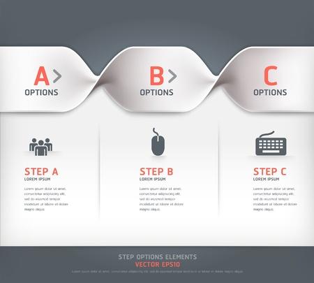 conception: Moderne étape spirale options de bannière Vector illustration peut être utilisée pour la mise en flux, diagramme, les options numériques, web design