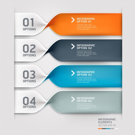 number button: Modern spiral infographics options banner  Vector illustration  can be used for workflow layout, diagram, number options, web design  Illustration