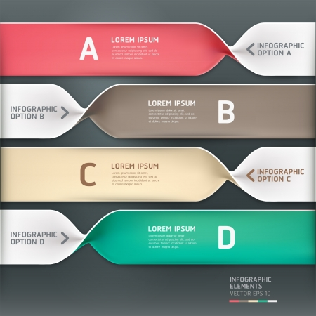 Modern spiral infographics options banner. Vector illustration. can be used for workflow layout, diagram, number options, web design. Stock Vector - 18139210