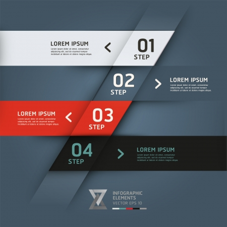 web layout: Modern origami style options banner. Vector illustration. can be used for workflow layout, diagram, number options, step up options, web design, infographics.