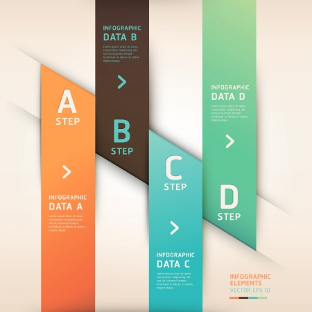 Modern origami style options banner. Vector illustration. can be used for workflow layout, diagram, number options, step up options, web design, infographics. Stock Vector - 18154400