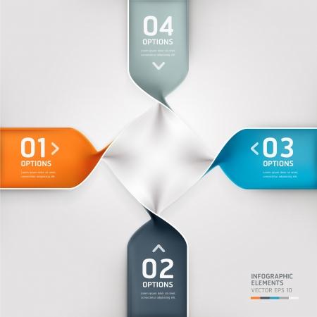 Modern spiral infographics options banner  Vector illustration  can be used for workflow layout, diagram, number options, web design  Illustration