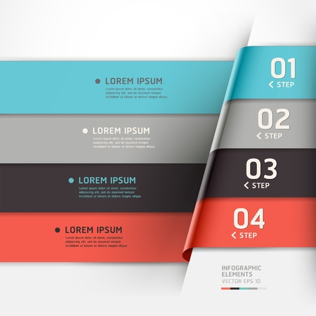 Modern origami style options banner. can be used for workflow layout, diagram, number options, step up options, web design, infographics. Vector