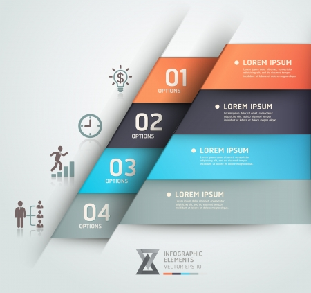 step up: Modern business steb origami style options banner  Vector illustration  can be used for workflow layout, diagram, number options, step up options, web design, infographics