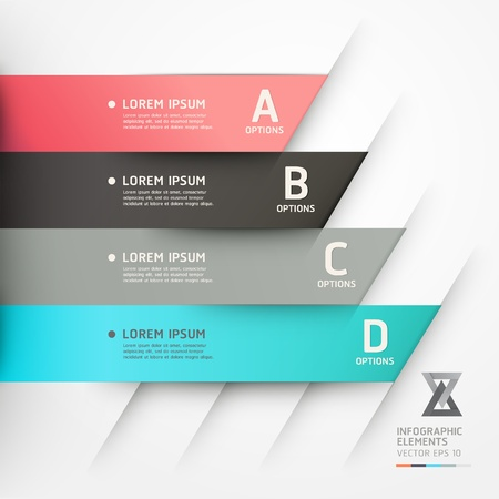 step up: Modern origami style options banner  Vector illustration  can be used for workflow layout, diagram, number options, step up options, web design, infographics
