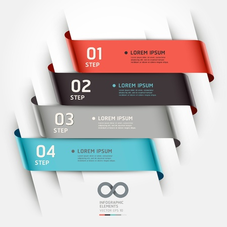 banner: Modern origami style options banner  Vector illustration  can be used for workflow layout, diagram, number options, step up options, web design, infographics