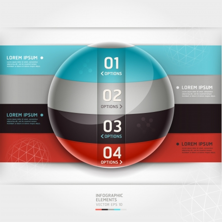 Abstract infographics element circle template  Vector illustration  can be used for workflow layout, diagram, number options, step up options, web design, banner Stock Vector - 18640947