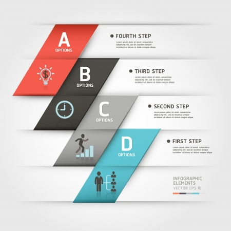 Modern business steb origami style options banner  Vector illustration  can be used for workflow layout, diagram, number options, step up options, web template, infographics  Stock Vector - 18640946