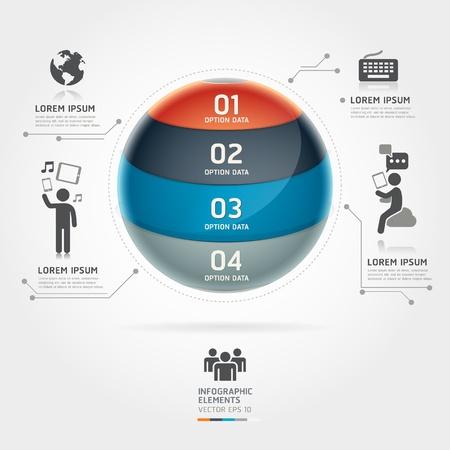 tecnologia: Abstract globe infografica comunicazione tecnologia dell'elemento modello vettore pu� essere utilizzato per il layout del flusso di lavoro, diagramma, opzioni di numero, intensificare le opzioni, web design, bandiera Vettoriali