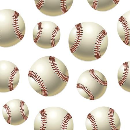 beisbol: Baseballs Seamless pattern. Ilustraci�n vectorial