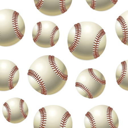 Baseballs Seamless pattern. Vector illustration Vector