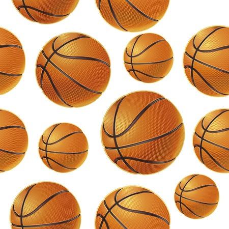 Basket balls Seamless pattern. Vector illustration Vector
