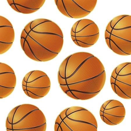 basketball background: Basket balls Seamless pattern. Vector illustration