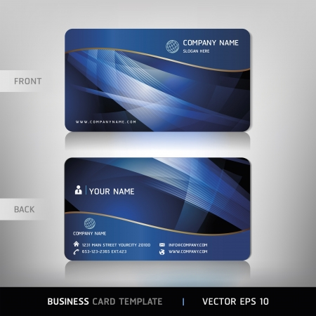 Business Card Set. Vector illustration