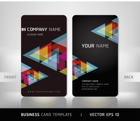 triangle pattern: Business Card Set. Vector illustration.