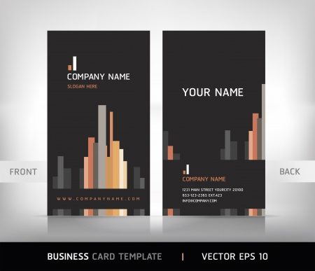 business card template: Business Card Set. Vector illustration