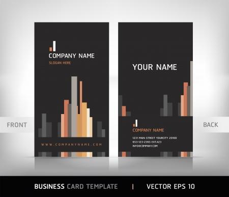 membrete: Conjunto de tarjeta de negocios. Ilustración vectorial