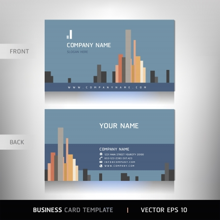 business card layout: Business Card Set. Vector illustration