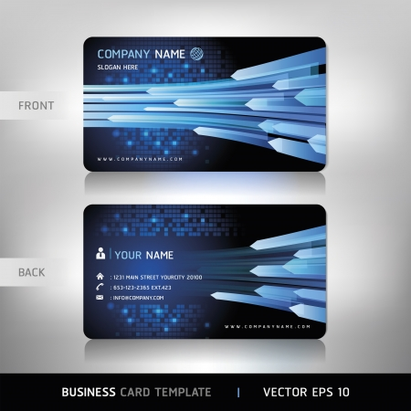 letterhead: Business Card Set Vector illustration