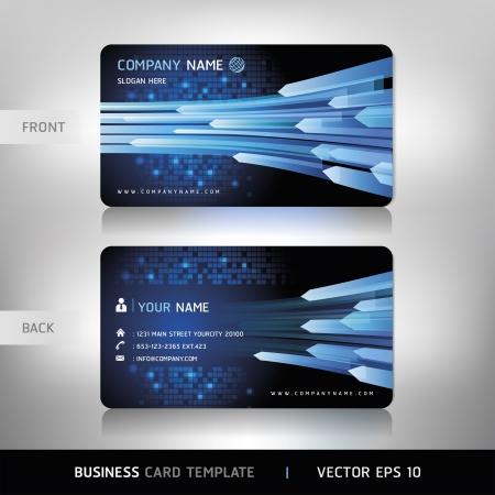 visual presentations: Business Card Set Vector illustration