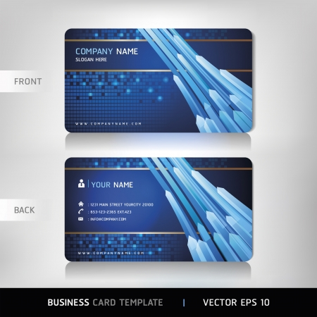 business card layout: Business Card Set Vector illustration