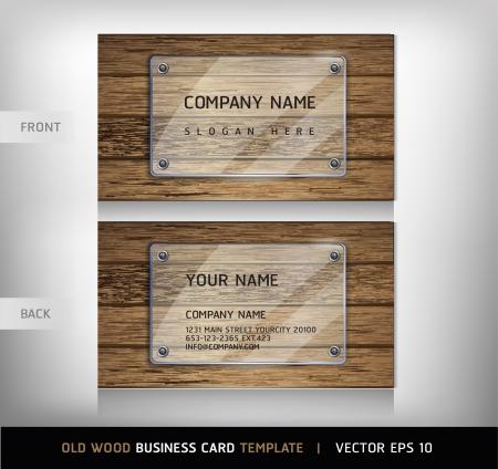 wooden doors: Old textura de madera Tarjeta de fondo ilustraci�n vectorial Vectores