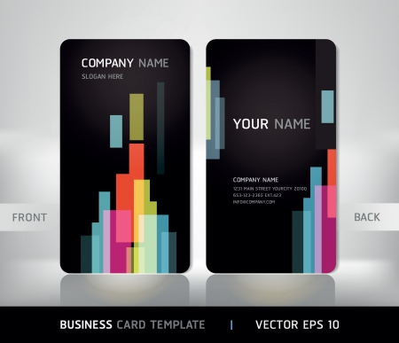 Business Card Set  Vector illustration Stock Vector - 18759134