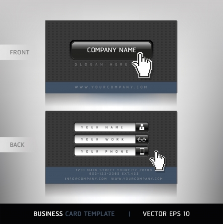 Business Card with Website buttons  Vector illustration Stock Vector - 18759070
