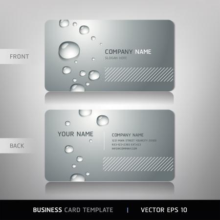 visitekaartje: Business Card met water druppel Vector illustratie