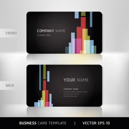 blank business card: Business Card Set  Vector illustration