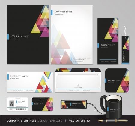 papier en t�te: M�tier Corporate identit� Vecteur ensemble illustration