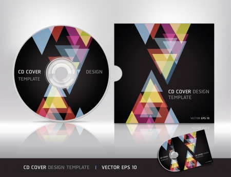 Cd cover design template Vector illustration