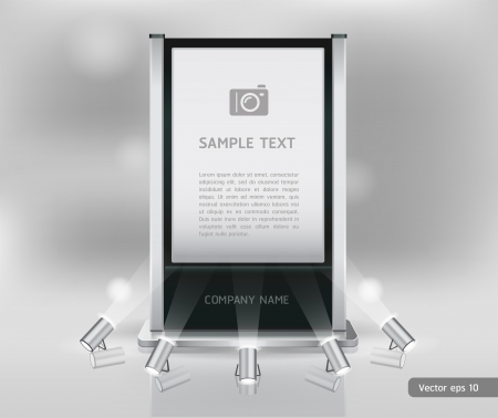 Trade exhibition stand display Vector  Vector